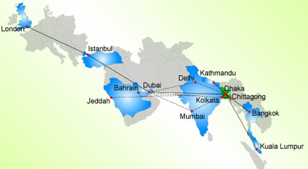 United Airways Route Map