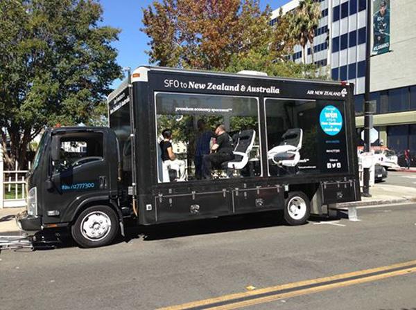 Air New Zealand Seat Showcase Truck