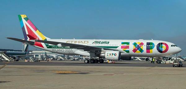 Alitalia (2nd)-Etihad A330-200 (14-Expo Milano 2015)(Grd)(Alitalia)(LRW)