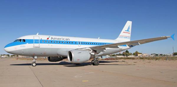 American-US Airways A319-100 N744P (14-Piedmont 74)(Grd)(American)(LR)