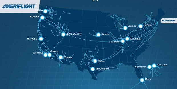 Ameriflight 10.2014 Route Map