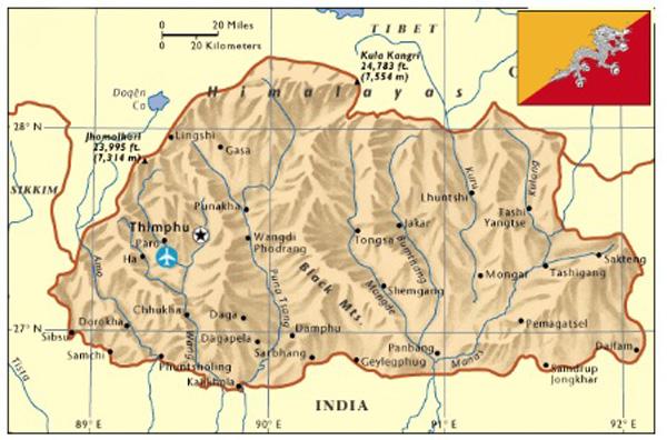 Bhutan Map-1