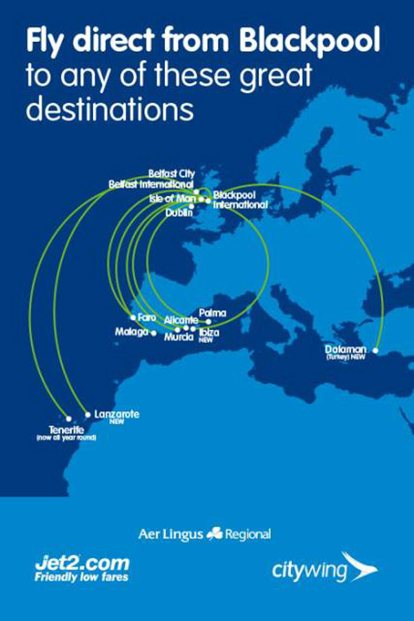 Blackpool Airport routes