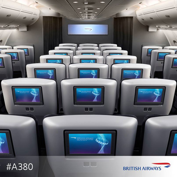 British Airways A380 Cabin