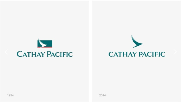Cathay Pacific 1994 > 2014 logo evolution