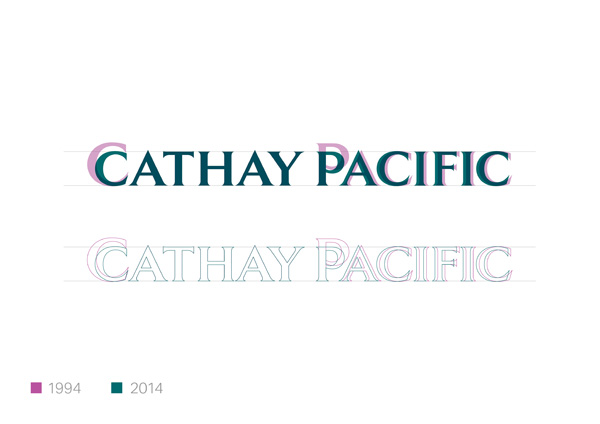 Cathay Pacific Typeface Evolution (LRW)