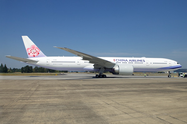 China Airlines 777-300 B-18051 (95)(Grd) PAE (Boeing)(LRW)