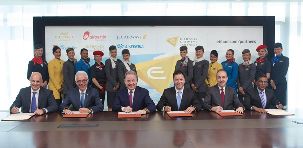 Etihad Airways Partners signing ceremony (Etihad)(LRW)