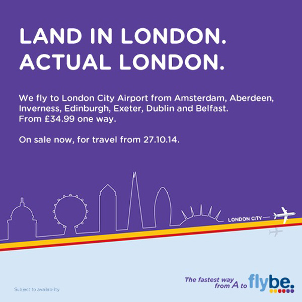 Flybe Land in London