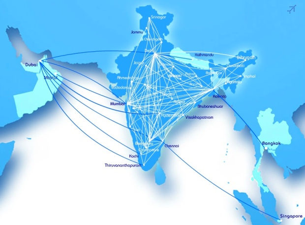 IndiGo 10.2014 Route Map