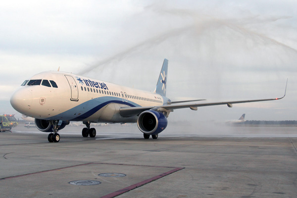 Interjet water salute