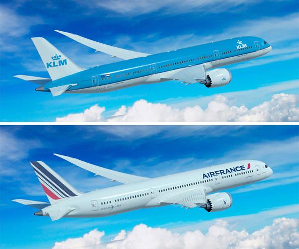 KLM and Air France 787-9 (Air France-KLM)(LR)