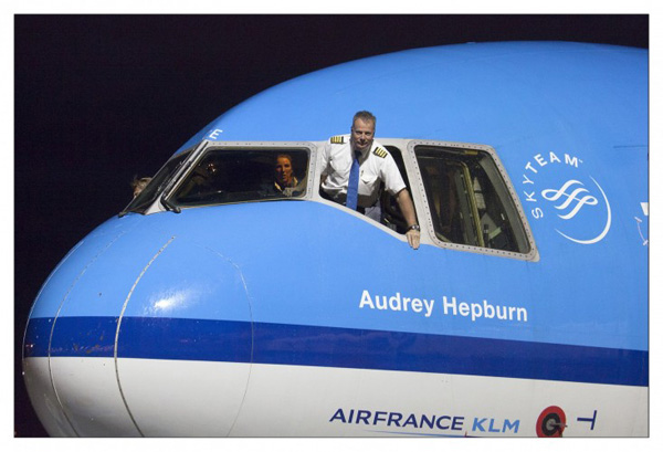 KLM MD-11 PH-KCE Audrey Hepburn last flight (KLM)(LR)