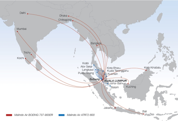 Malindo Air 10.2014 Route Map