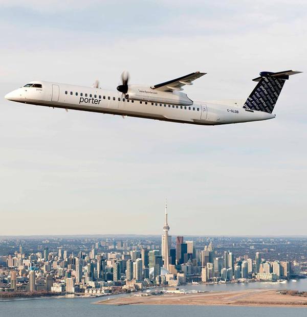 Porter DHC-8-400 over Toronto