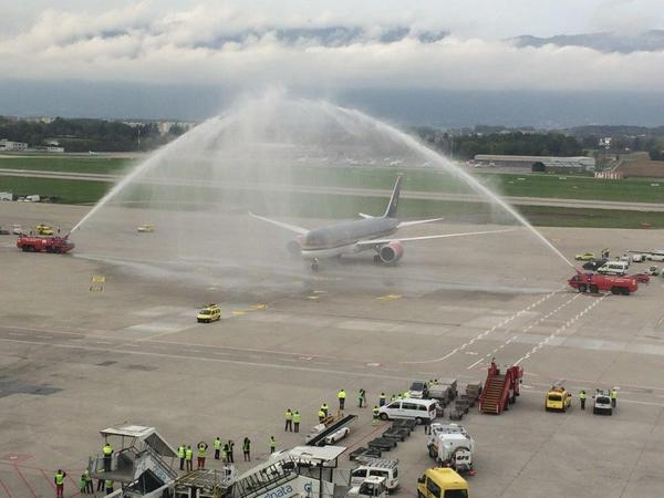 Royal Jordanian 787 arrives at GVA (IATA)