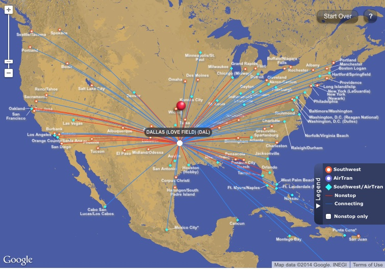 florida map southwest airlines