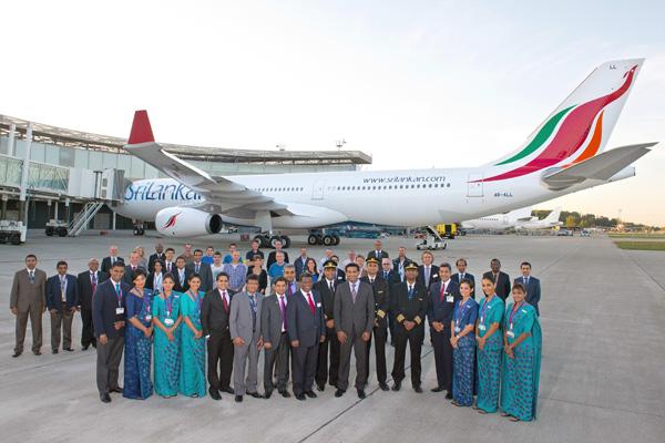 SriLankan A330-300 4R-ALL (99)(Grd)(Ceremony) TLS (Airbus)(LRW)
