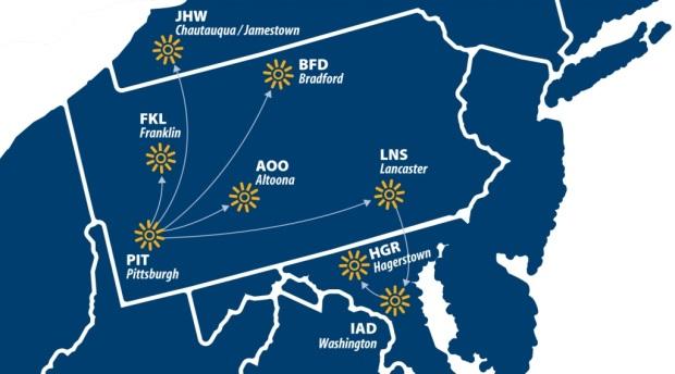 Sun Air Express 10.2014 Route Map