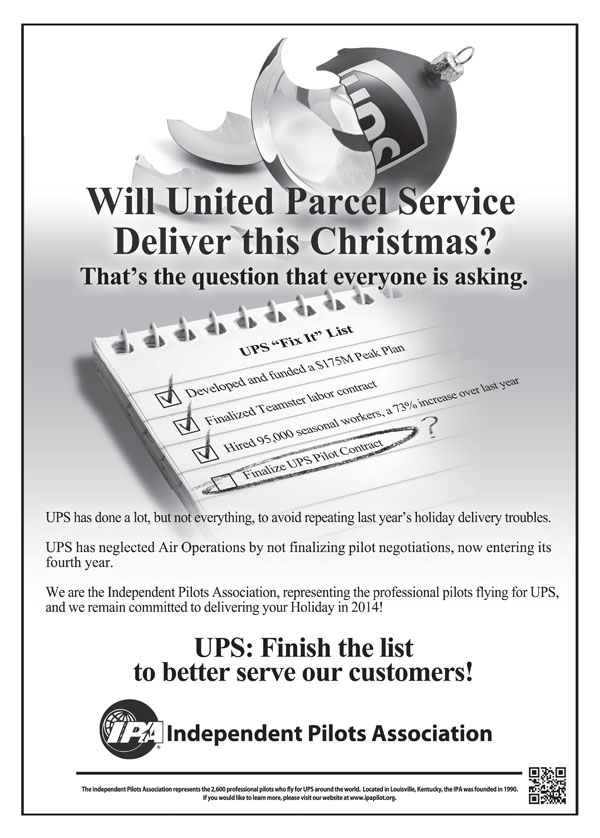 UPS IPA ad in the WSJ (LR)