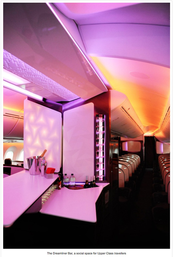 Virgin Atlantic 787-9 Dreamliner Bar