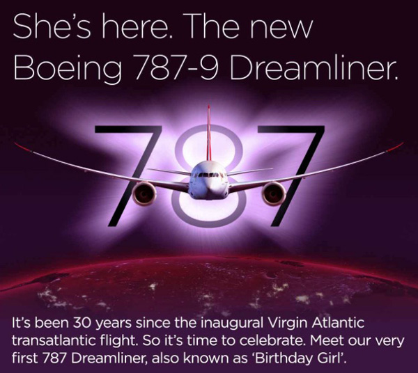 Virgin Atlantic Introduces The New Boeing 787-9 On The