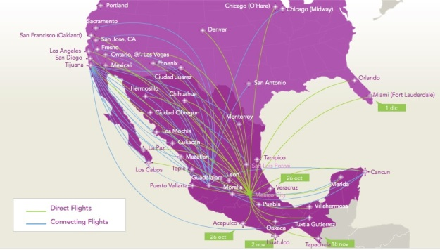 Volaris MEX 10.2014 Route Map