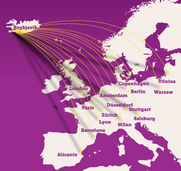 WOW Air 10.2014 Route Map
