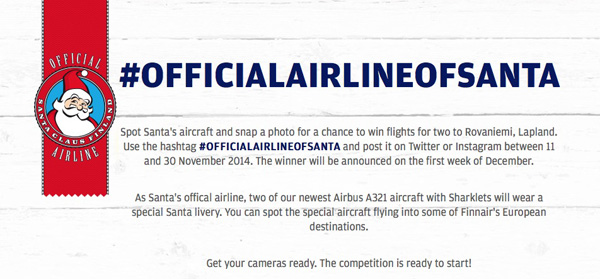Finnair Official Airline of Santa