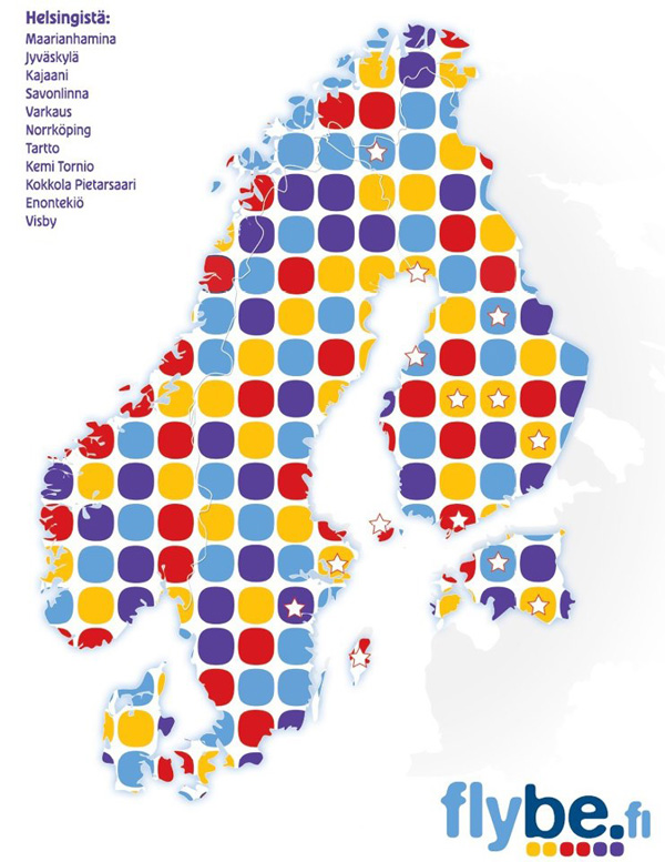 Flybe Finland 11.2014 Route Map