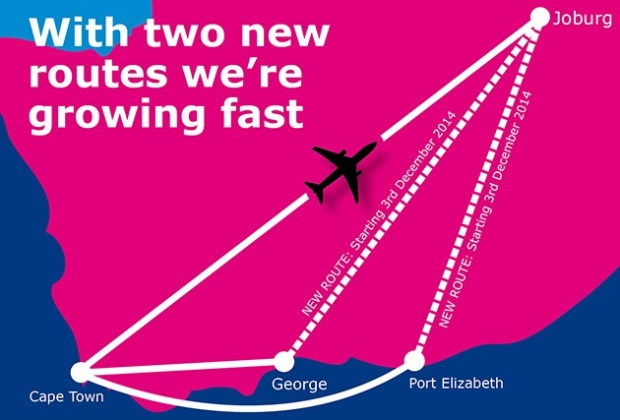 FlySafair 11.2014 Route Map