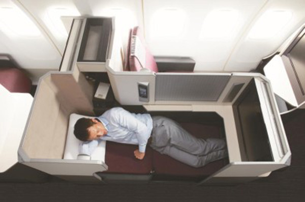 JAL 787 Sky Suite bed