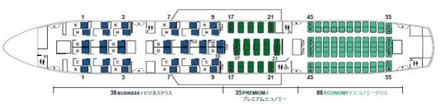JAL Sky Suite 787 layout