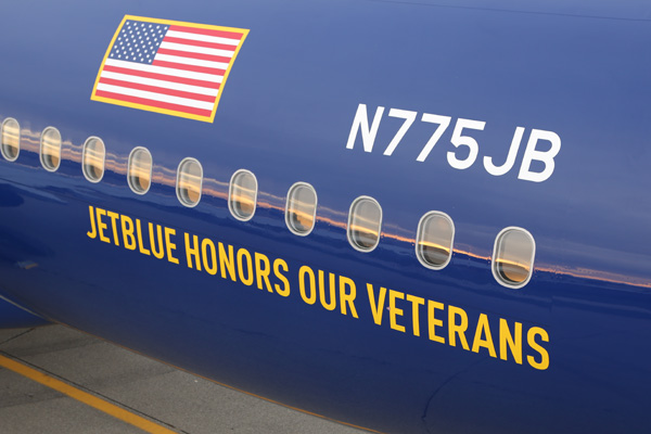 JetBlue A320-200 B775JB (14-Vets in Blue)(Reg)(JetBlue)(LRW)