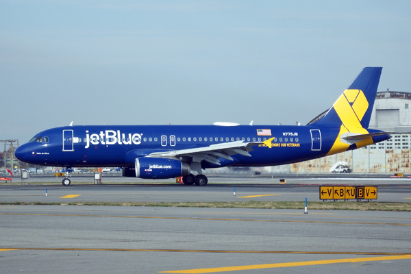 JetBlue A320-200 N775JB (14-Vets in Blue)(Grd-1) JFK (JetBlue)(LRW)