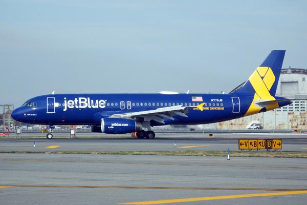 JetBlue A320-200 N775JB (14-Vets in Blue)(Grd-1) JFK (JetBlue)(LRW)