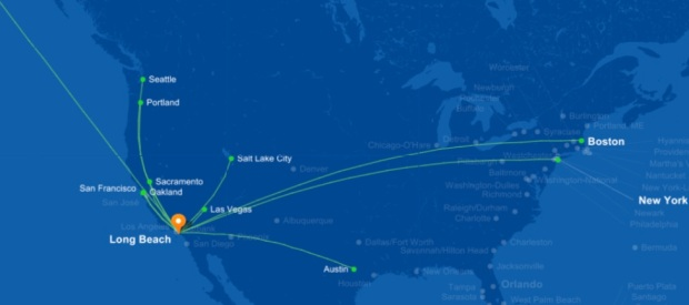 JetBlue LGB 11.2014 Route Map