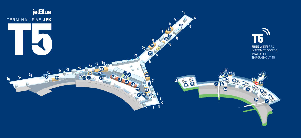 JetBlue Airways today opens the T5 International Arrivals hall at