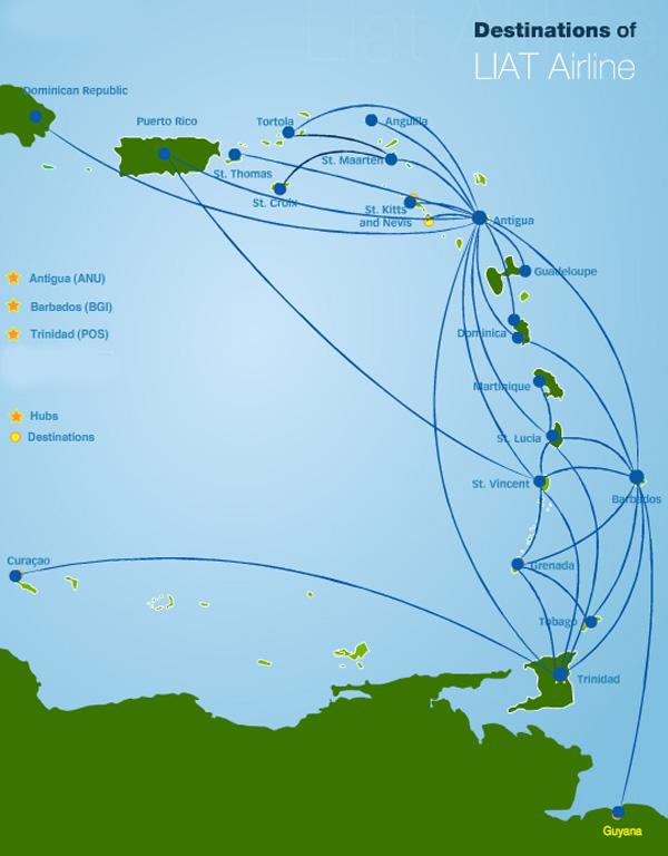 LIAT 10.2014 Route Map