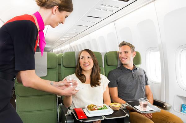 New Economy dining experience - service (QANTAS)(LRW)