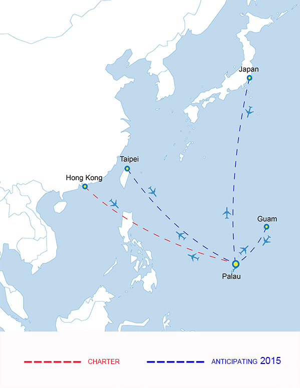 Palau Pacific Airways 11.2014 Route Map