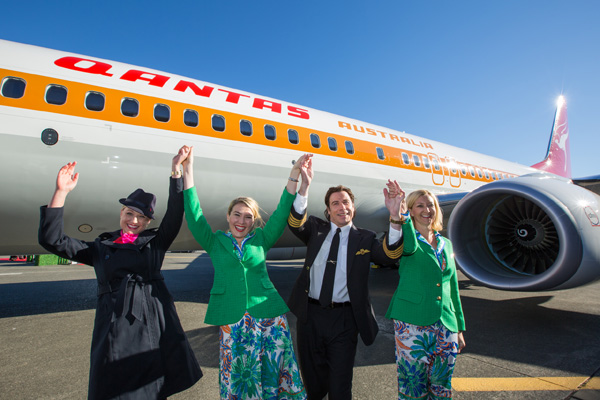 QANTAS 737-800 VH-XZP (71) + John Travolta (QANTAS)(LRW)
