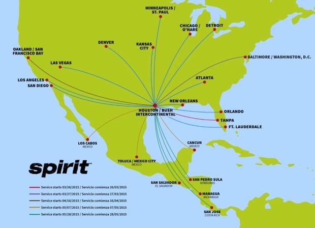 Spirit IAH 11.2014 Route Map