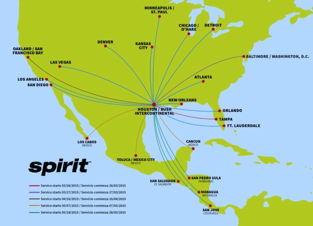 Spirit IAH 11.2014 Route Map