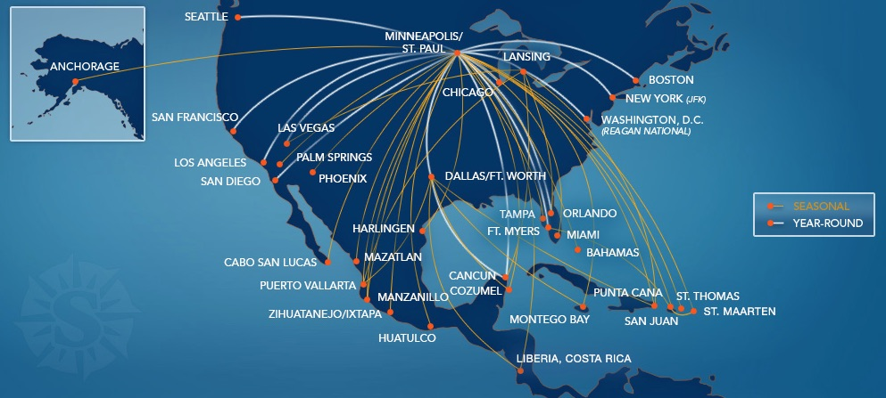 alaska air route map with Sun Country To Fly Twice Weekly Fort Myers San Juan Flights Next Summer on Northwest Passage Greenland Bering Sea 0 further Routes together with A Great  bination American Airlines Status Plus Citi Prestige also Skywest Airlines Australia further Capital One 360 Checking Review With Capital One Bank Routing Number.