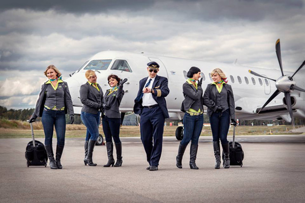 Sverigeflyg crew