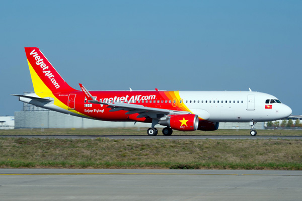 A320 VIETJET MSN6341 ON THE GROUND - FIRST FLIGHT