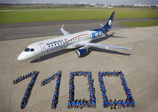 AeroMexico connect ERJ 190-100 XA-GAW (06-110 E-Jets)(Grd) MEX (Embraer)(LRW)