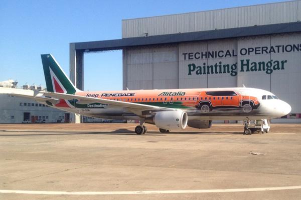 Alitalia (2nd) A320-200 EI-DSW (14-Jeep Renegade)(Grd)(GGC)(LRW)