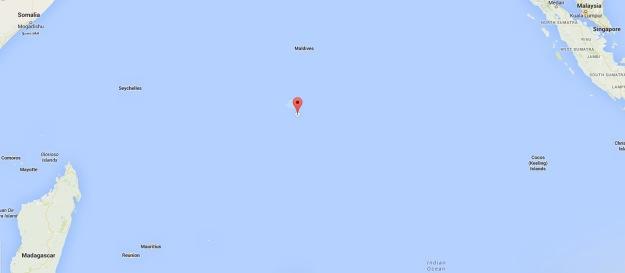 Diego Garcia in the Indian Ocean